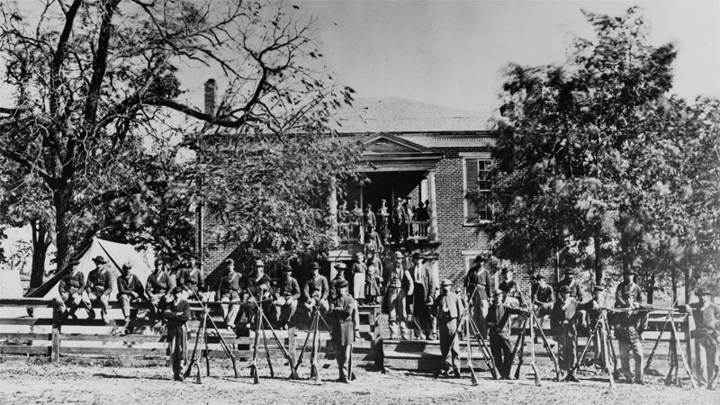 Union Soldiers at the Court House in Appomattox